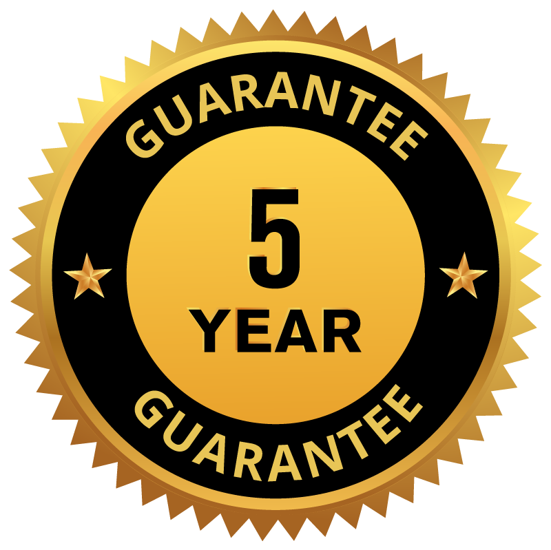 5 year guarantee patio cover