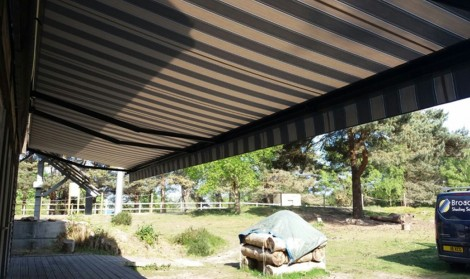patterned awning