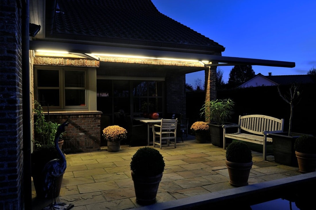 LED lighting systems for veranda covers