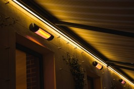 LED lighting systems for lean-to patio covers
