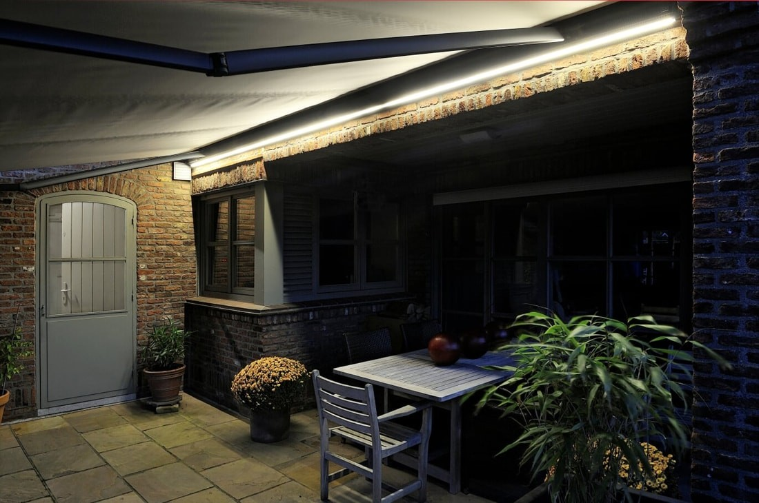 LED lighting systems for patio covers