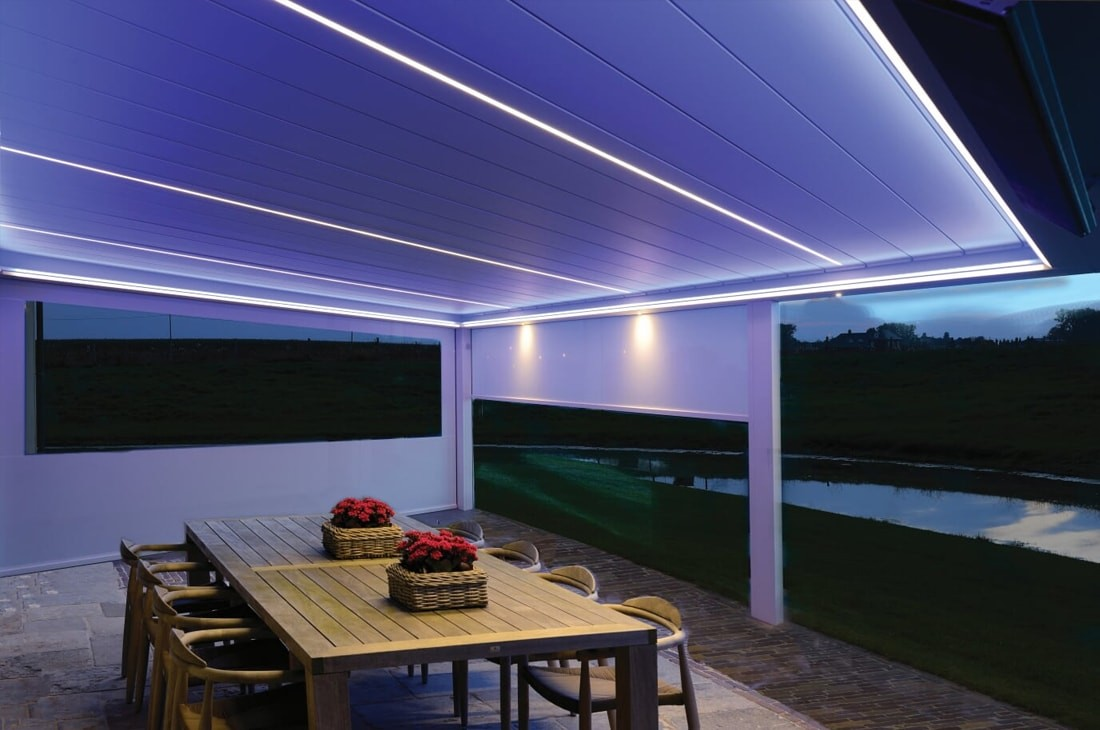 LED lighting systems for terrace covers