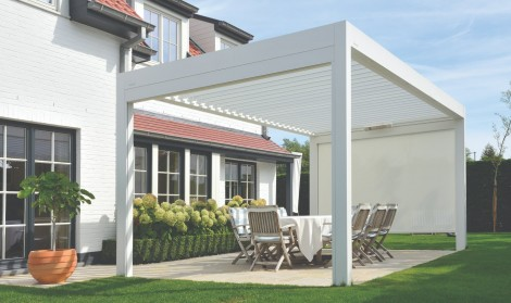 pergola with roof and sides